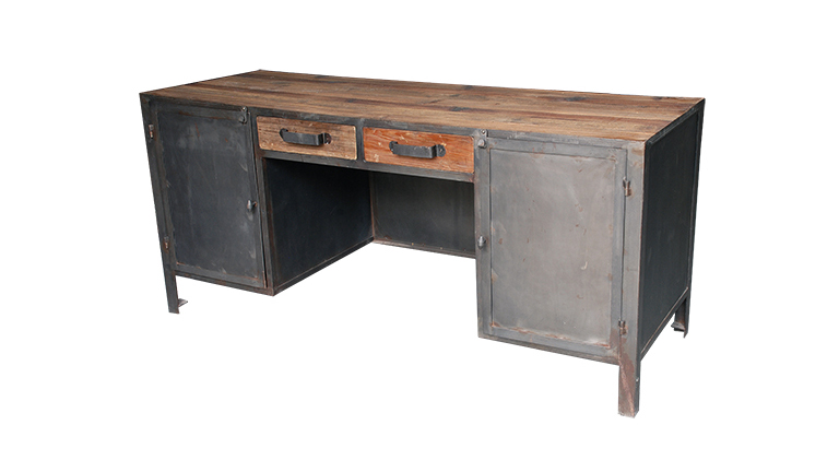 Bureau Bois Metal : Blog MobilierMoss – bureau-industriel-mobiliermoss-bois-metal-caruso