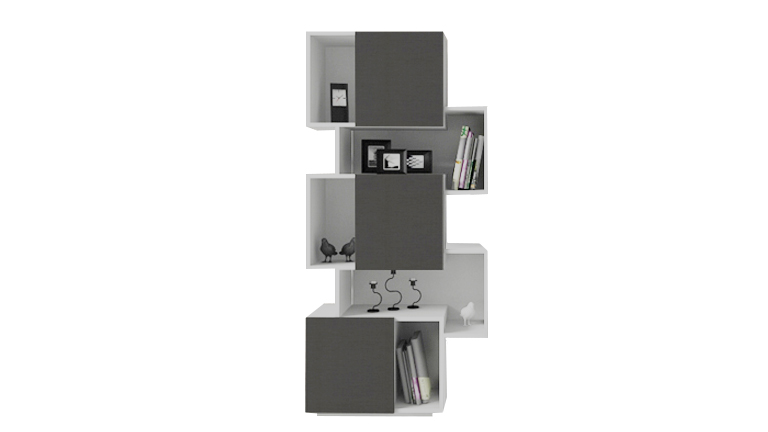 oraly etagere bibliotheque blanc gris mobilier moss le blog mobilier moss. Black Bedroom Furniture Sets. Home Design Ideas