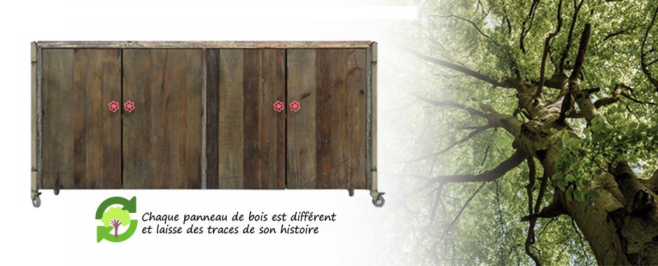 Le bois recyclé chez mobiliermoss