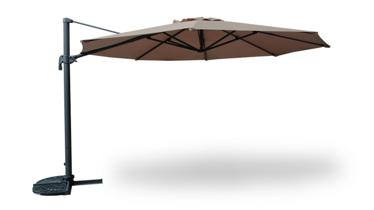 parasol deporte toile taupe le blog mobilier moss. Black Bedroom Furniture Sets. Home Design Ideas