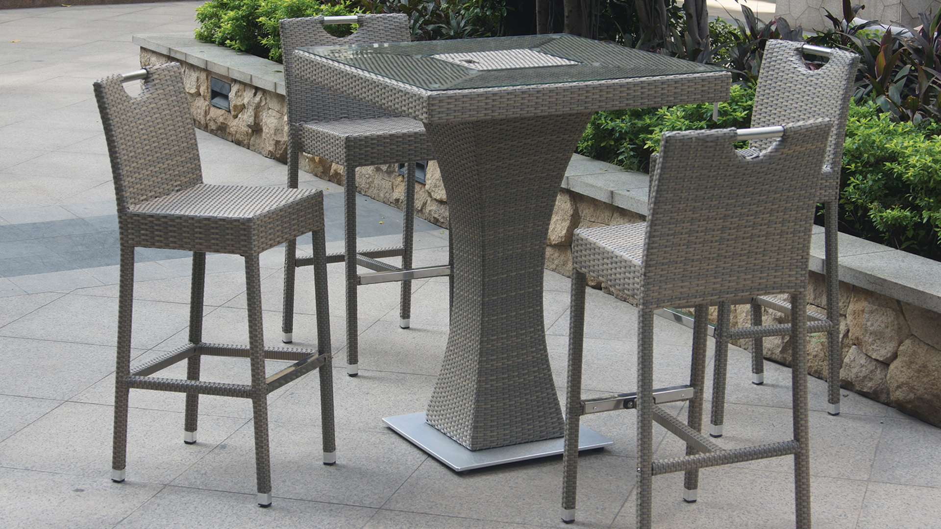 Table de jardin haute | Optimisatrice
