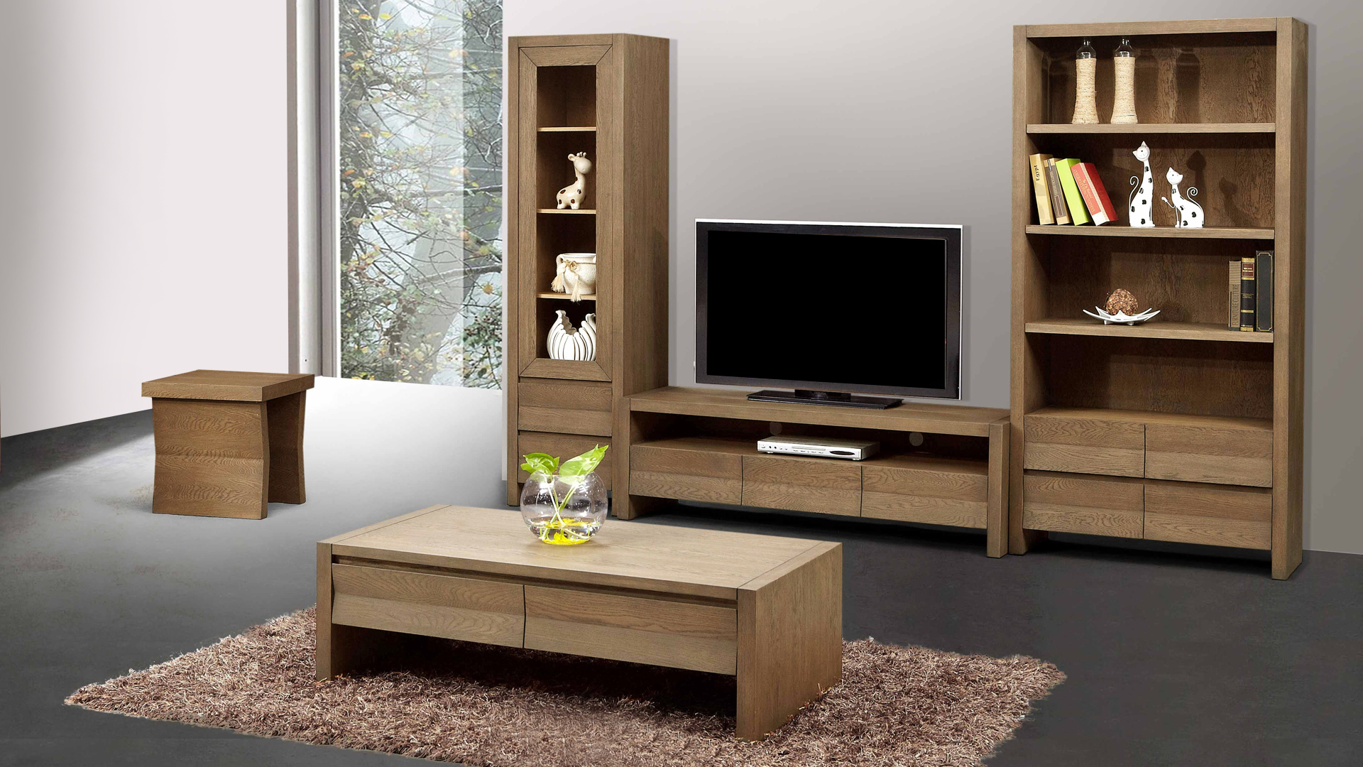 model meuble salon en bois. Black Bedroom Furniture Sets. Home Design Ideas