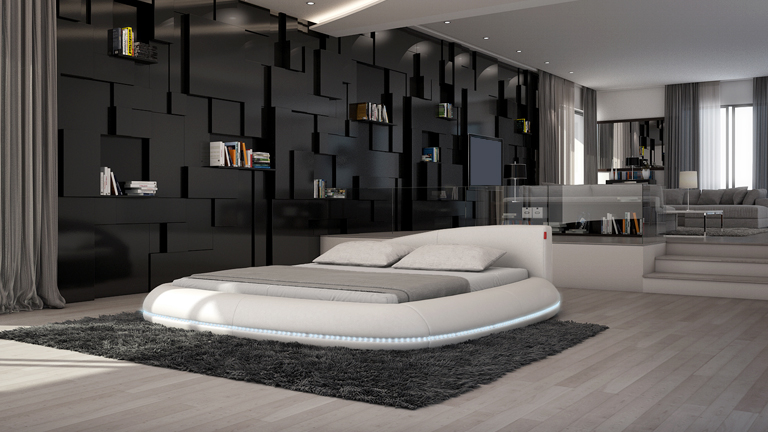 emejing deco de chanbre adulte lit rond rouge pictures. Black Bedroom Furniture Sets. Home Design Ideas