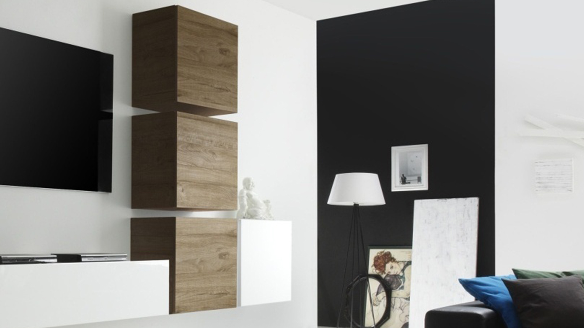 meuble de rangement mural composable en t le avec portes. Black Bedroom Furniture Sets. Home Design Ideas