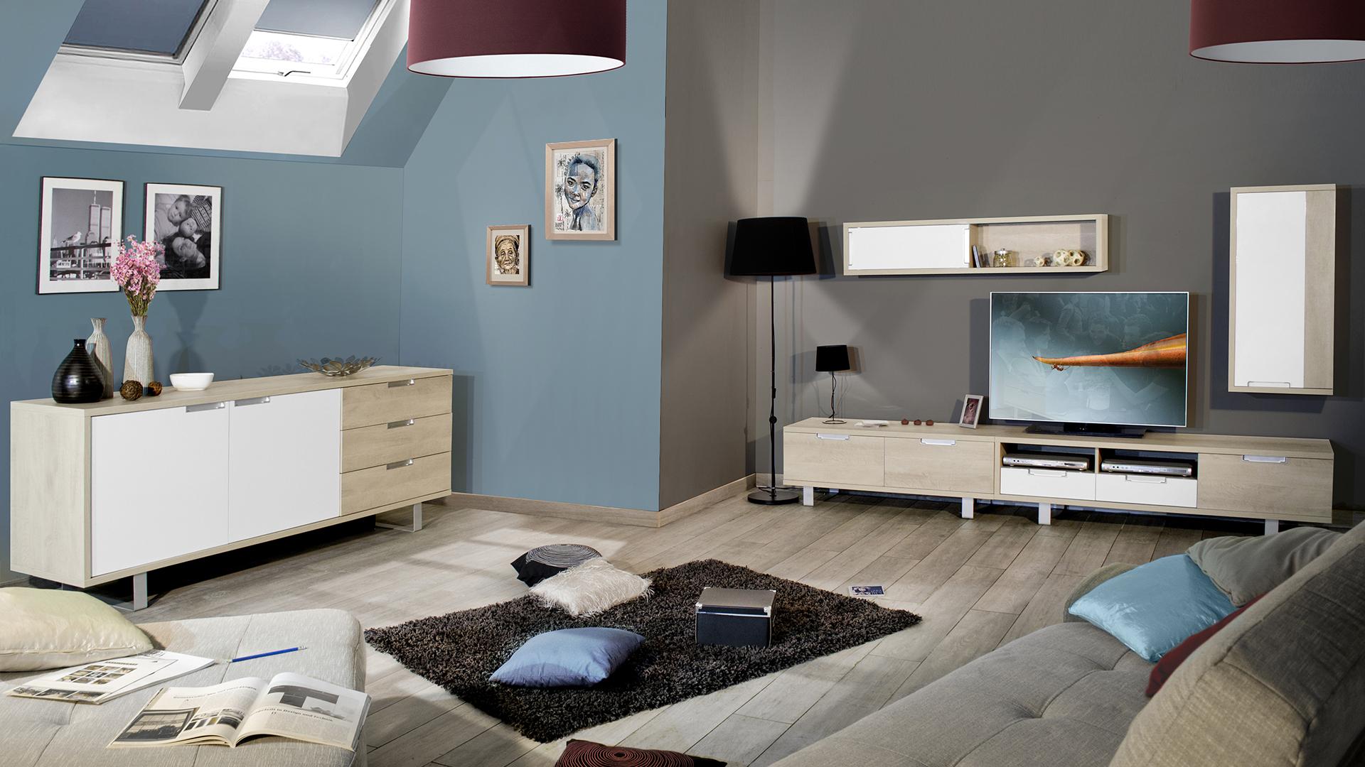 Le Blog Mobiliermoss Am Nager Un Loft Contemporain Avec La Gamme  # Meuble Tv Vero Scandinave