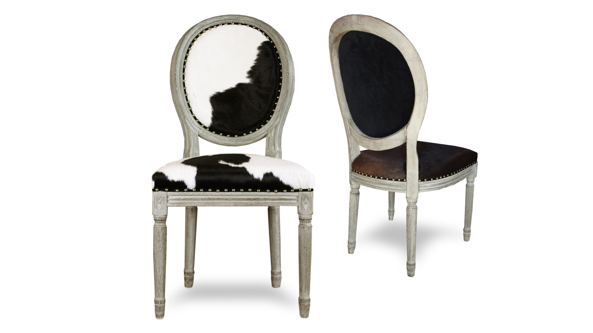 le blog mobiliermoss chaise medaillon peau de vache pied bois cow mobiliermoss. Black Bedroom Furniture Sets. Home Design Ideas