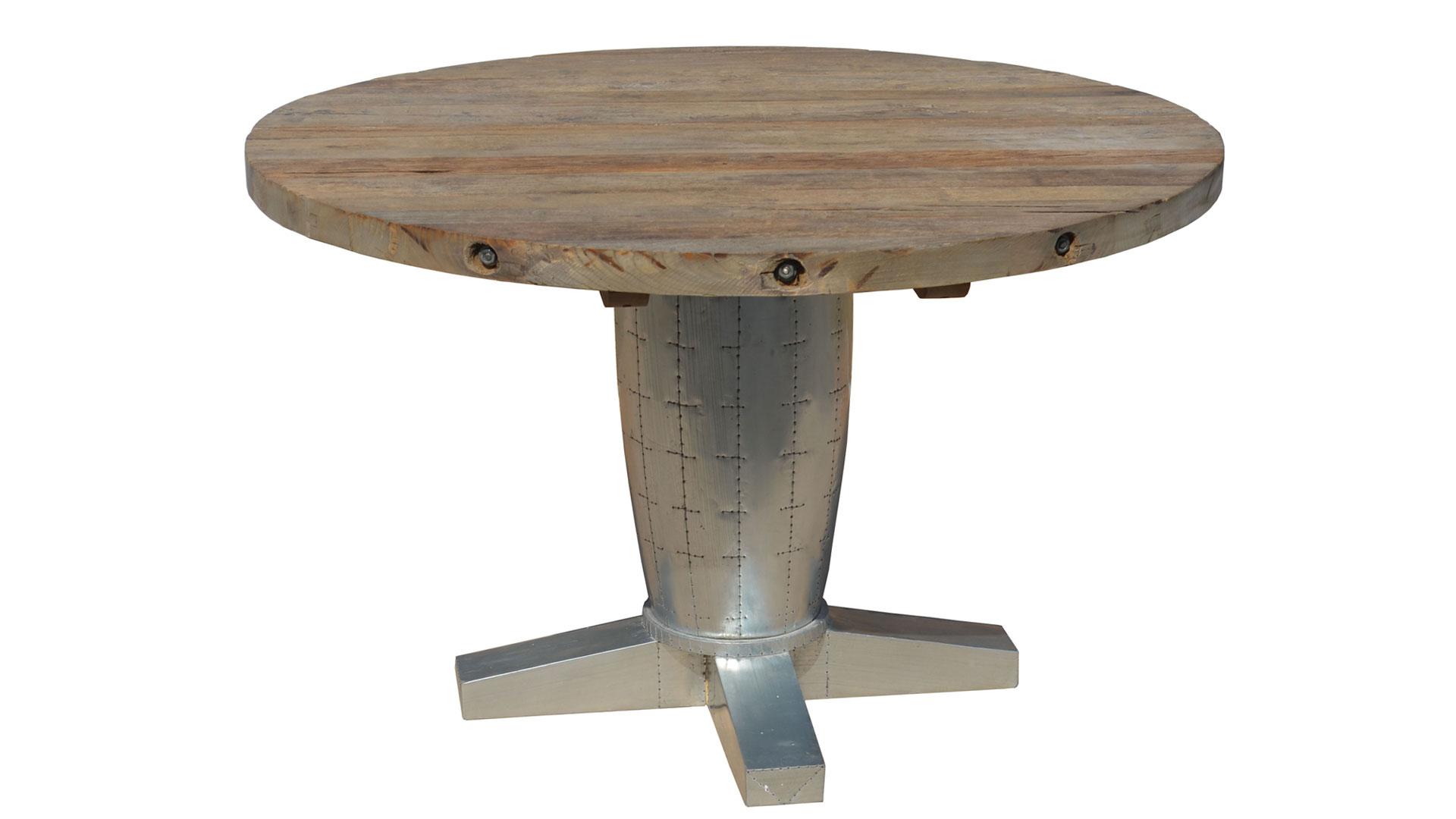 table zinc industrielle marthe mobilier moss le blog mobilier moss. Black Bedroom Furniture Sets. Home Design Ideas