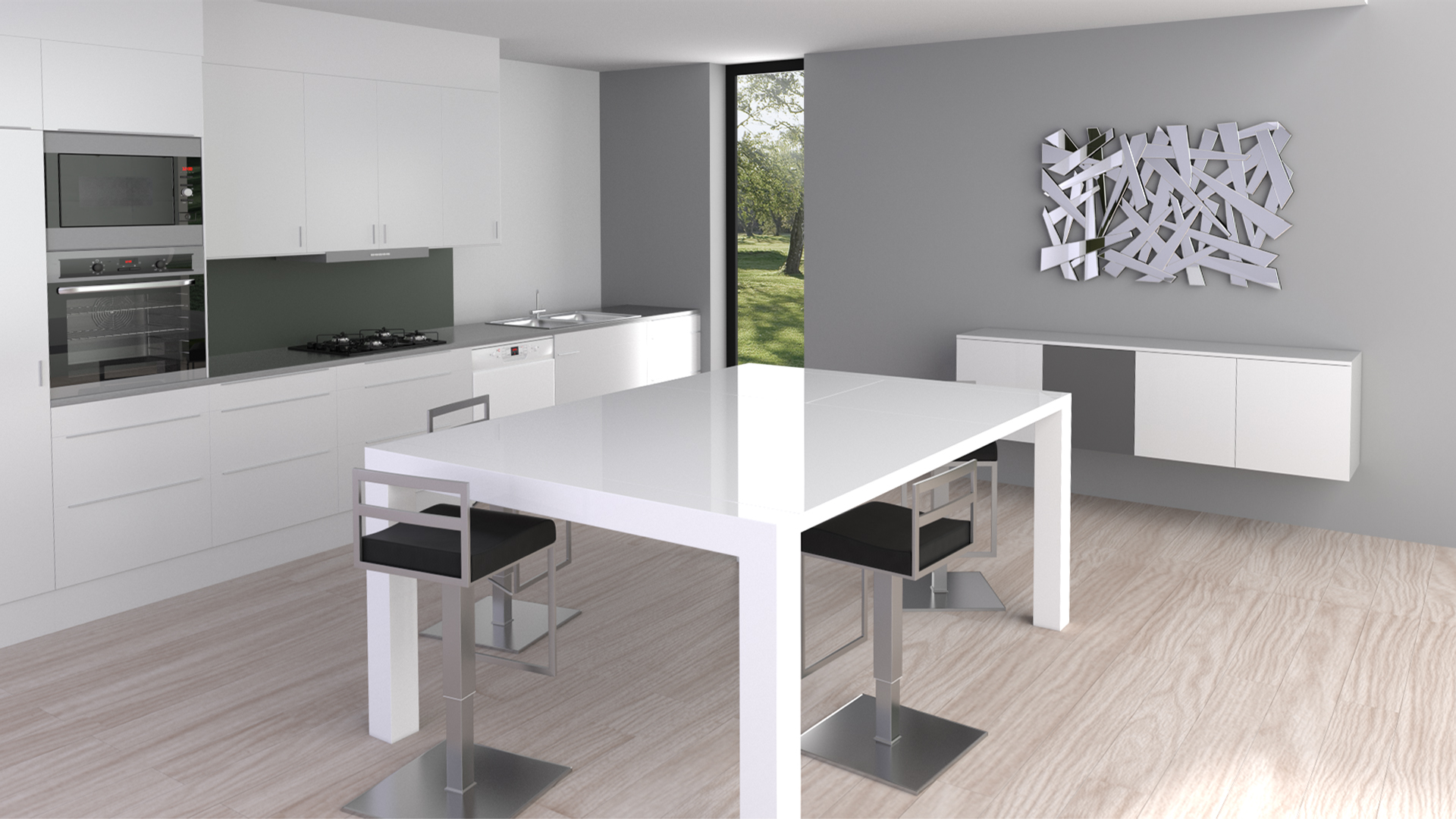 Table carre blanche avec rallonge table a manger design for Table de salle a manger carre