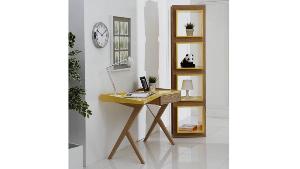 bureau-laque-jaune-design-mobiliermoss-geometry