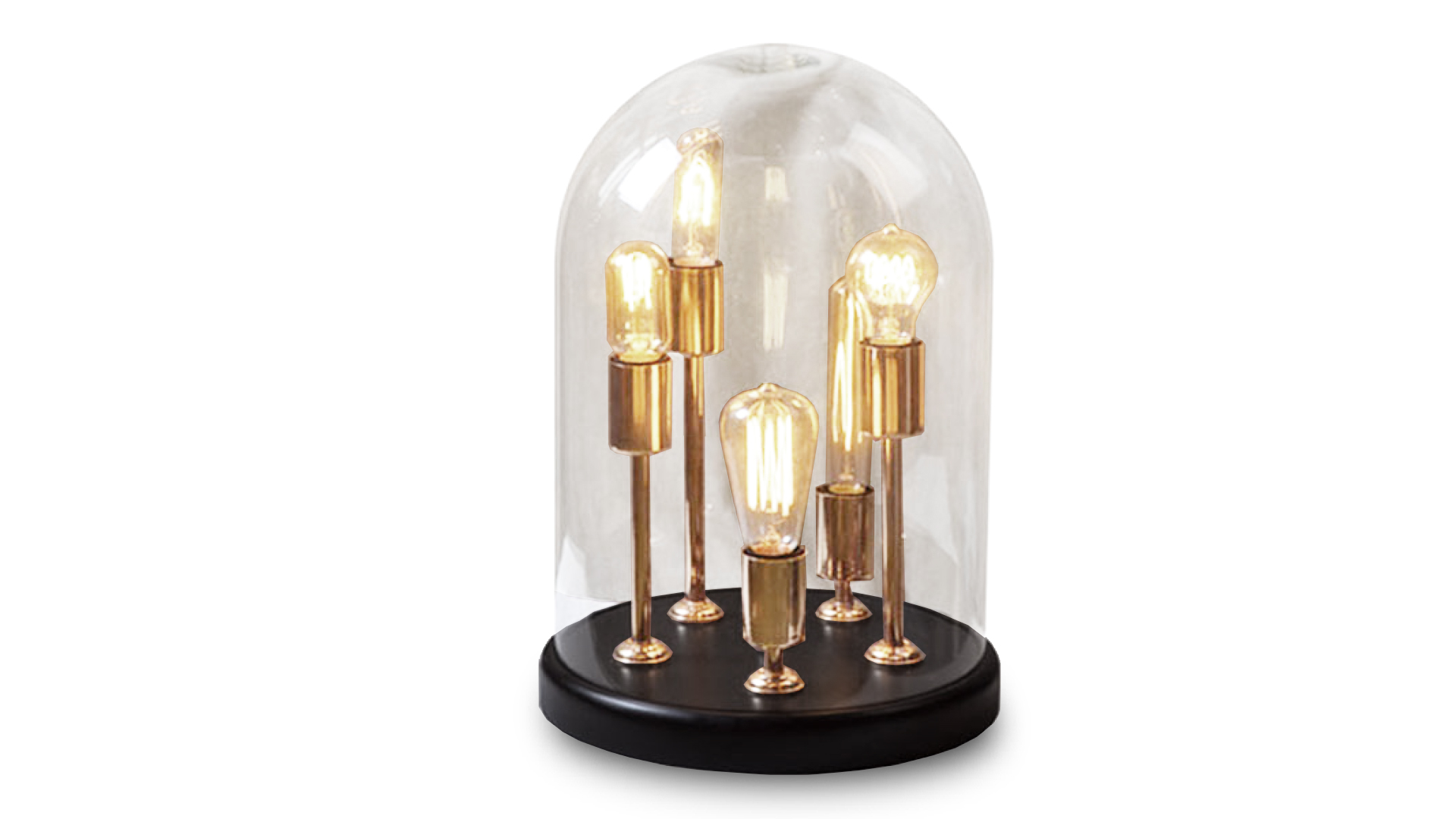 lampe de table cloche verre 5 ampoules filaments zacchary mobiliermoss le blog mobilier moss. Black Bedroom Furniture Sets. Home Design Ideas