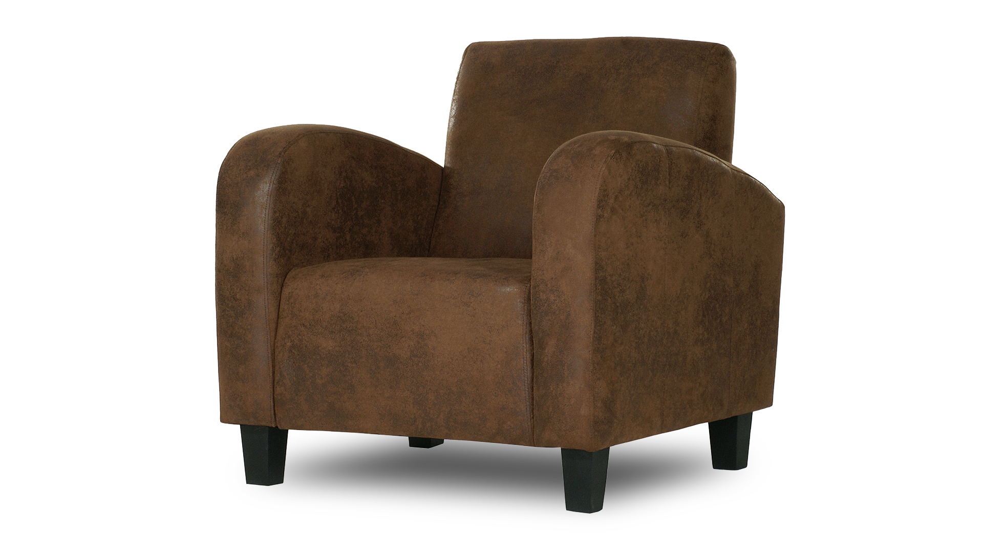 fauteuil microfibre imitation cuir vieilli marron clair wigam mobiliermoss le blog mobilier moss. Black Bedroom Furniture Sets. Home Design Ideas