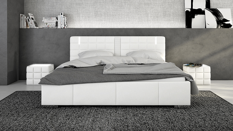 lit capitone design simili blanc century mobiliermoss le blog mobilier moss. Black Bedroom Furniture Sets. Home Design Ideas