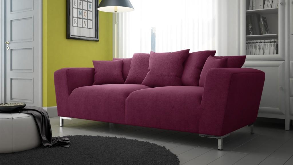 Canapé Lisburn couleur Marsala