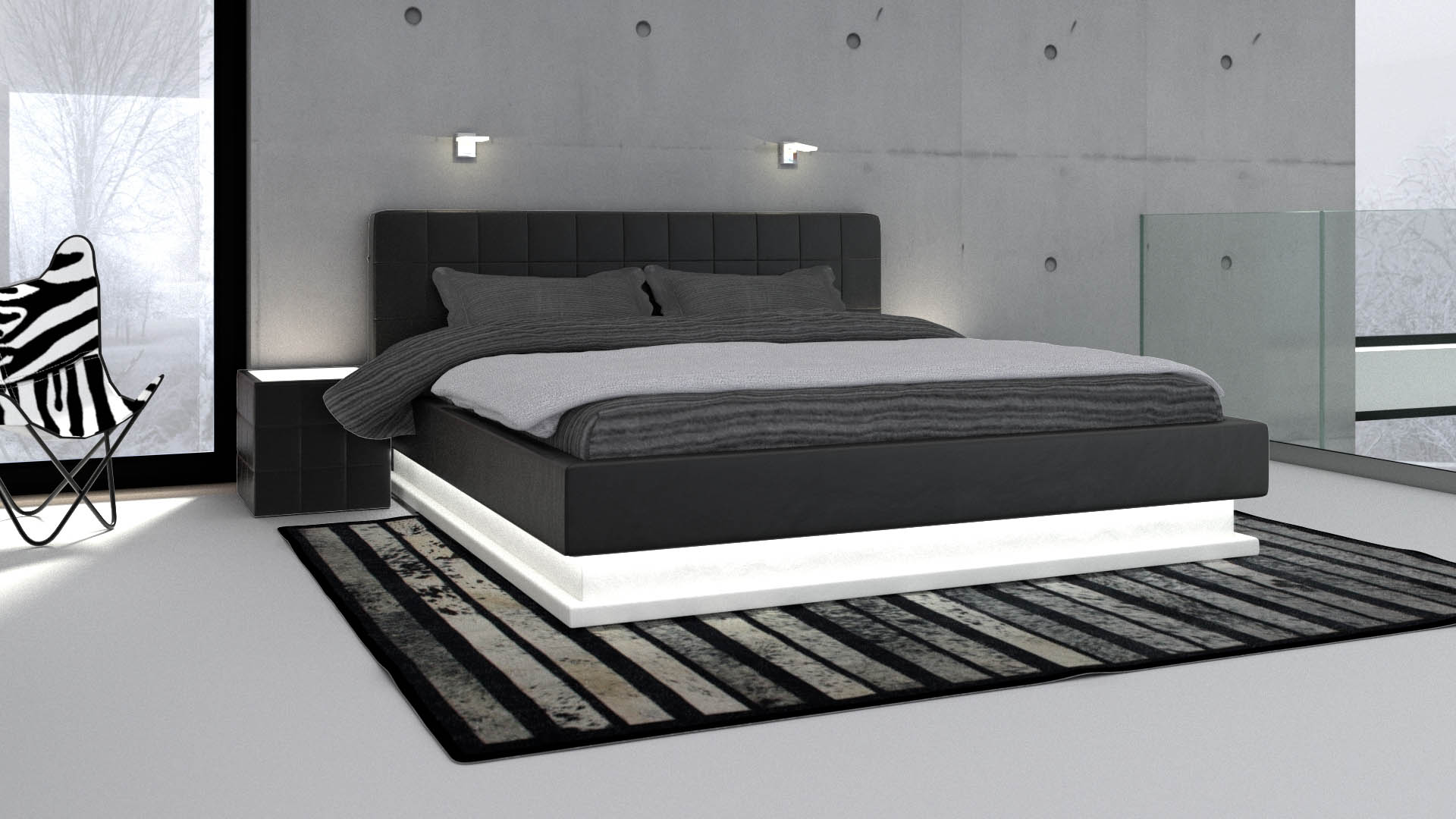 chambre ado noir et blanc garcon. Black Bedroom Furniture Sets. Home Design Ideas