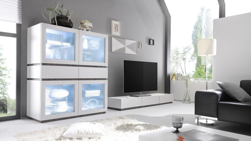 Rangement-4portes-vitree-led-2tiroirs-laque-mat-blanc-b-galatik-mobiliermoss