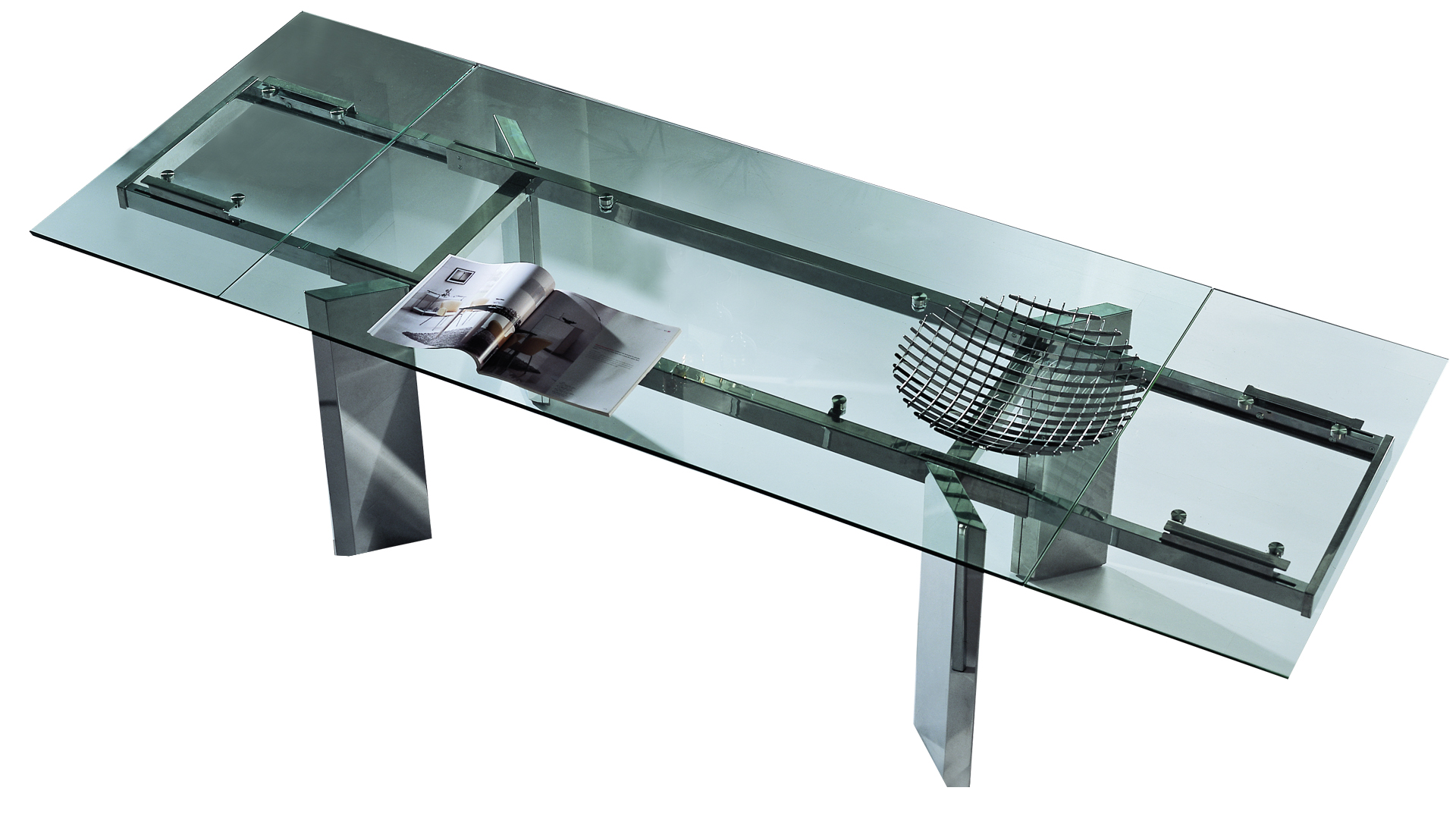 Table ronde verre design moderne accueil design et mobilier for Table verre rallonge
