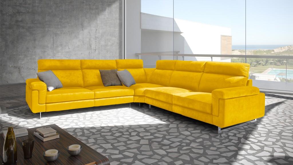 canape-angle-XL-tissu-jaune-canelo-mobiliermoss