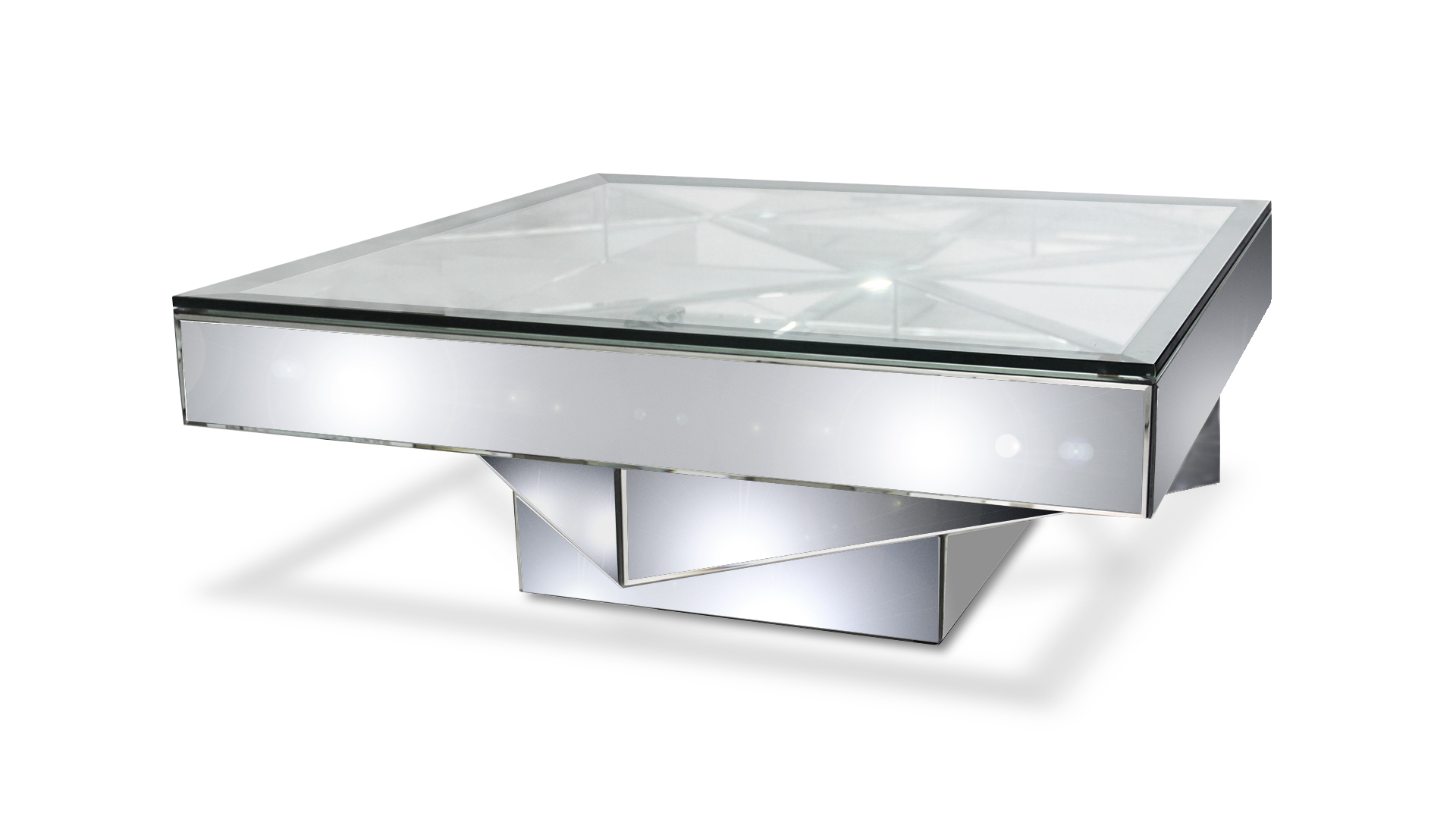 Table basse en verre miroir meuble de salon lilas - Ikea table basse verre ...