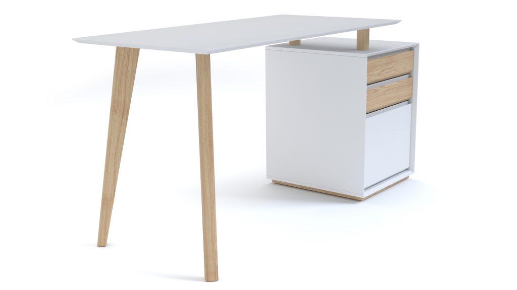 bureau-a-caisson-blanc-pieds-bois-style-scandinave-svartan-2-mobiliermoss