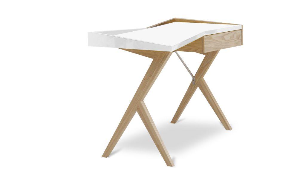 bureau-laque-blanc-pied-bois-geometry-mobiliermoss