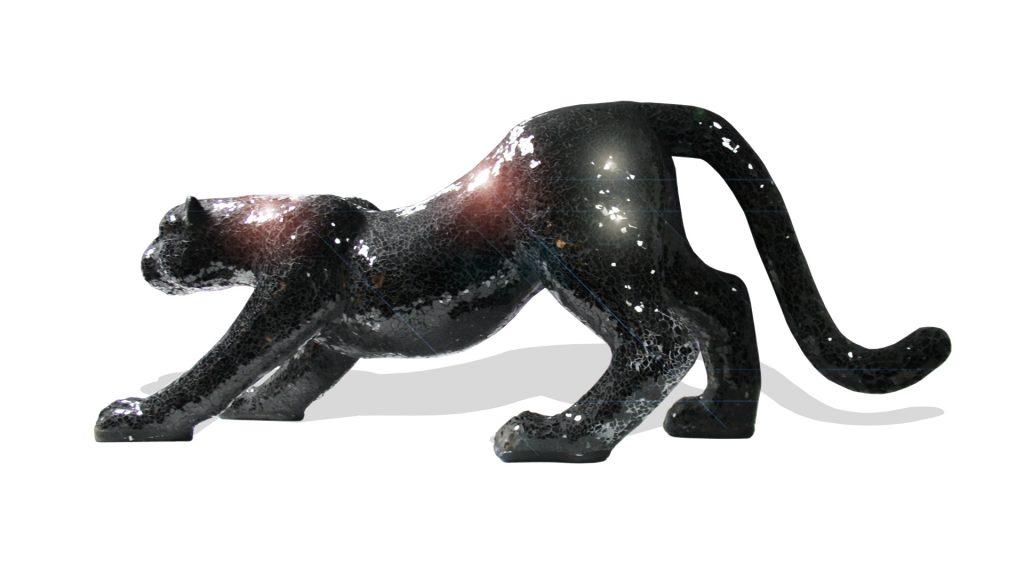 jaguar-statue-art-resine-mosaique-design-noire-vue-cote-mobilier-moss