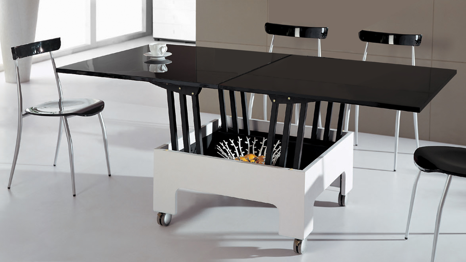 table a manger modulable maison design. Black Bedroom Furniture Sets. Home Design Ideas