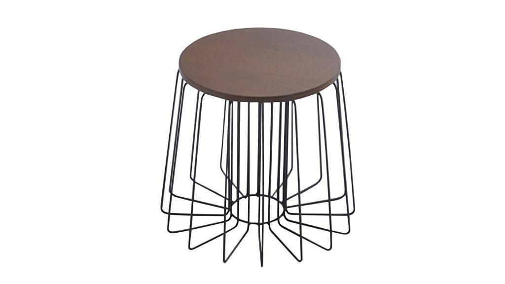 table-appoint-ronde-pied-metal-noir-polateau-bois-arendal-mobiliermoss