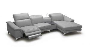 Canapé d'angle avec système de relaxation Glicy