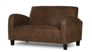 Canapé 2 places en microfibre imitation cuir - Wigam
