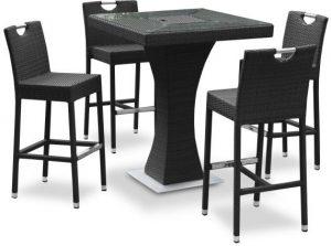 table haute et tabouret pour jardin - Izama - MobilierMoss