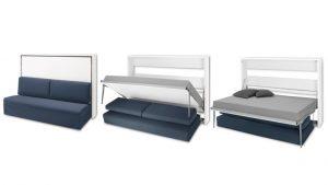 Lit double escamotable avec canapé - Oribed Sofa - MobilierMoss