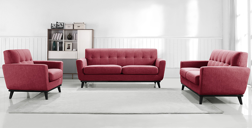 Salon scandinave framboise -Stockolm