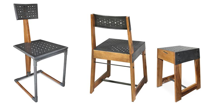 Chaises style industriel